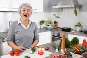 Spaß bei der Zubereitung von Lebensmittel